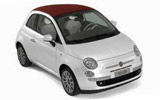 Car rental Fiat 500 Convertible