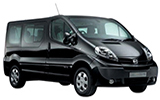 Car rental Nissan Primastar 9 Seater