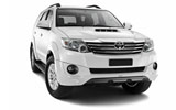 Car rental Toyota Fortuner 2WD